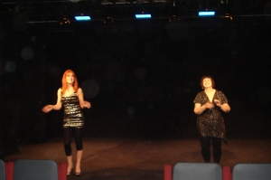 Vanessa & Beth (our singers)